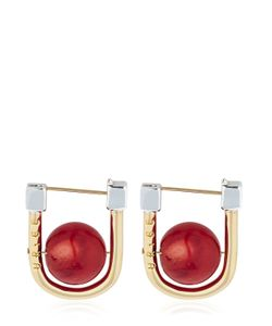 URIBE | Camille Bamboo Coral Earrings