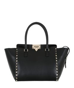 Valentino | Small Rockstud Leather Top Handle Bag