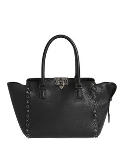 Valentino | Rolling Noir Grained Leather Bag