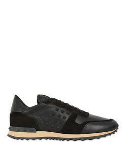 Valentino | Rockstud Leather Suede Sneakers