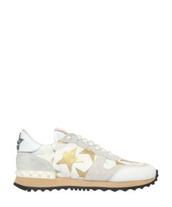Valentino | Camouflage Stars Canvas Suede Sneakers