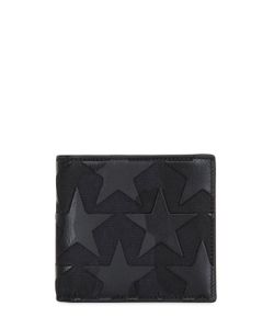 Valentino | Leather Stars Canvas Classic Wallet