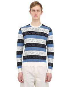 VASILY RAZDORSKIY | Cotton Logo Jacquard Sweater