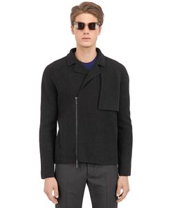 VASILY RAZDORSKIY | Boiled Wool Biker Jacket