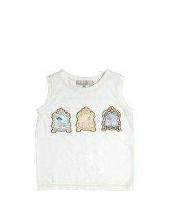 Venera Arapu | Animal Patches Cotton Jersey Top
