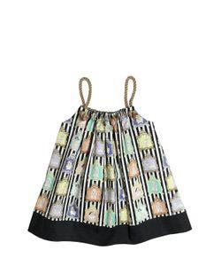 Venera Arapu | Animal Printed Cotton Satin Dress
