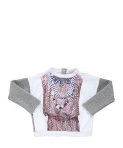 Venera Arapu | Printed Nylon Cotton Sweatshirt