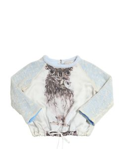 Venera Arapu | Linen Blend Knit Silk Satin Sweatshirt