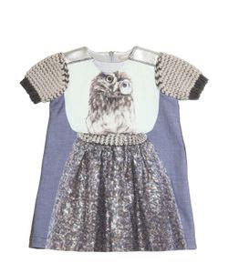 Venera Arapu | Owl Printed Linen Cotton Blend Dress