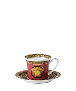 Versace | Medusa Red Porcelain Espresso Cup