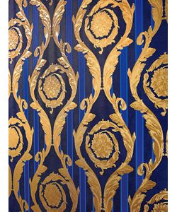 Versace | Barocco And Stripes Wallpaper