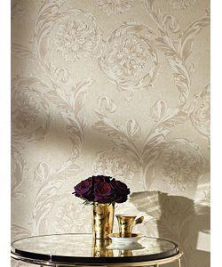 Versace | Creamy Barocco Wallpaper