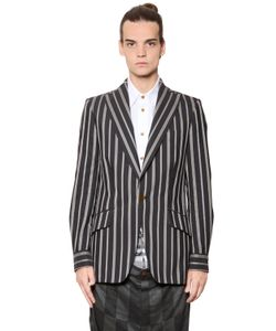 Vivienne Westwood | Deconstructed Pinstriped Cotton Jacket