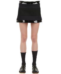 Wanda Nylon   Lisa Wool Vinyl And Mesh Mini Skirt