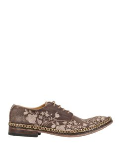 WE ARE...THE ORIGINAL | Linen Leather Derby Lace-Up Shoes