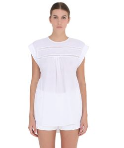 YAKAMPOT | Cotton Top With Lace Inserts