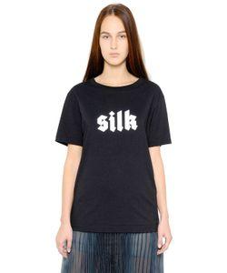 Yang Li | Silk Printed Cotton T-Shirt