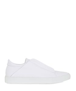 YLATI FOOTWEAR | Nerone Zipped Leather Slip-On Sneakers