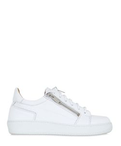 YLATI FOOTWEAR | Augusto Zipped Leather Sneakers