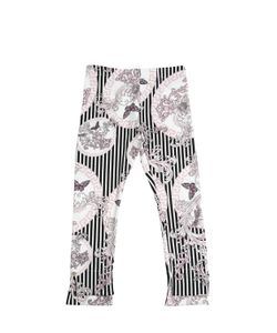 Young Versace | Printed Cotton Jersey Leggings
