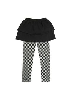 YPORQUÉ | Cotton Skirt W/ Jersey Printed Leggings