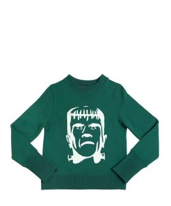 YPORQUÉ | Frankenstein Printed Cotton Sweatshirt