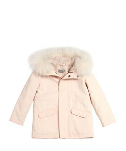 YVES SALOMON ENFANT | Gabardine Cotton Parka W/ Fur