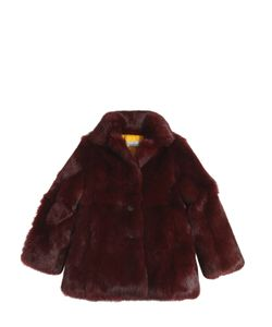 YVES SALOMON ENFANT | Long Hair Rabbit Fur Coat