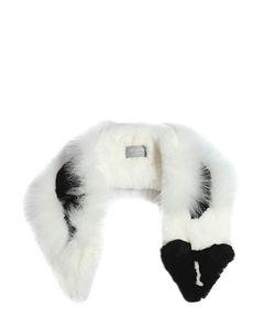 YVES SALOMON ENFANT   Raccoon Shaped Rex Fox Fur Scarf