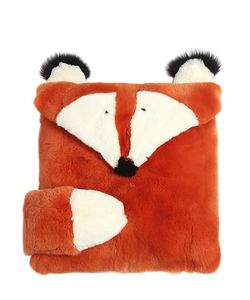 YVES SALOMON ENFANT | Fox Shaped Rex Fur Pillow Case