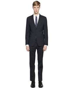 Z Zegna | Micro Striped Stretch Virgin Wool Suit