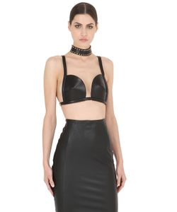 ZANA BAYNE LEATHER | Framed Leather Bra