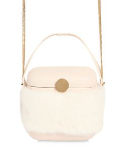 Benedetta Bruzziches | Mini Picnic Leather Mink Fur Box Bag