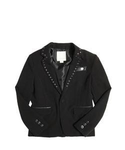 Diesel Kids   Studded Viscose Gabardine Tuxedo Jacket