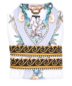 Versace | Les Étoiles De La Mer Printed Silk Robe