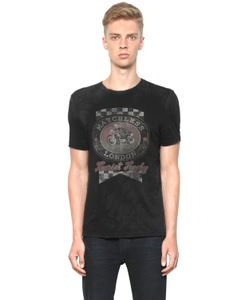 MATCHLESS LONDON | Slim Fit Vintage Printed Cotton T-Shirt