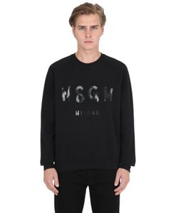 MSGM | Vinyl Logo Cotton Sweatshirt