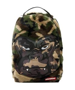 SPRAYGROUND | Gorilla Print Faux Fur Nylon Backpack