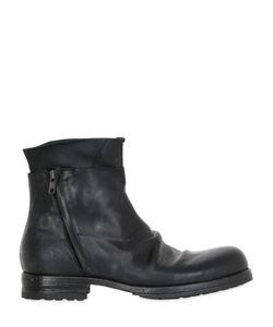 Shoto | Washed Horse Leather Ankle Boots