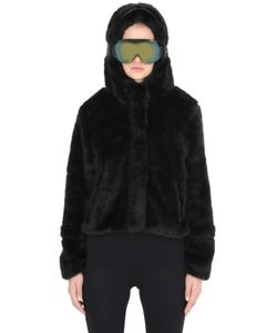 AI RIDERS ON THE STORM | Faux Fur Hooded Jacket