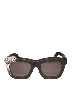 KUBORAUM BERLIN | Silver Embellished Burnt Sunglasses
