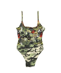 SELINI ACTION | Military Printed Stretch Nylon Swimsuit