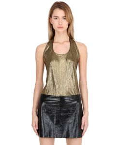 SIRAN | Metallic Open Back Halter Top