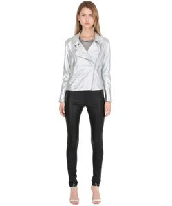 SIRAN | Metallic Nappa Leather Biker Jacket