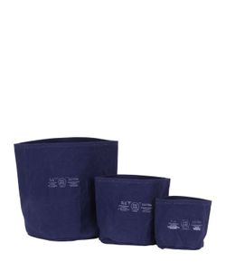 PUEBCO | Set Of 3 Cotton Canvas Sacks