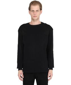 MRKT | Cotton Blend Sweater With Patches