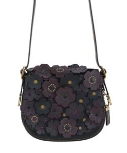 COACH 1941 | Saddle 23 Leather Bag W/Floral Appliquès