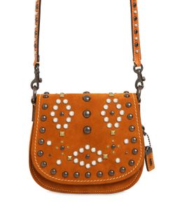 COACH 1941 | Saddle Studded Suede Shoulder Bag