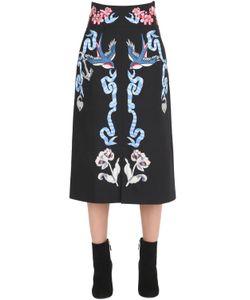 Temperley London | Tattoos Embroidered Poplin Midi Skirt