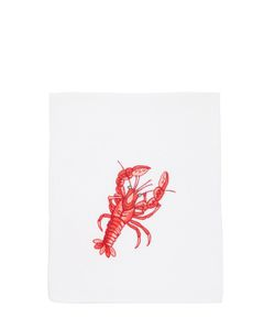 LORETTA CAPONI | Embroidered Lobster Kitchen Towel